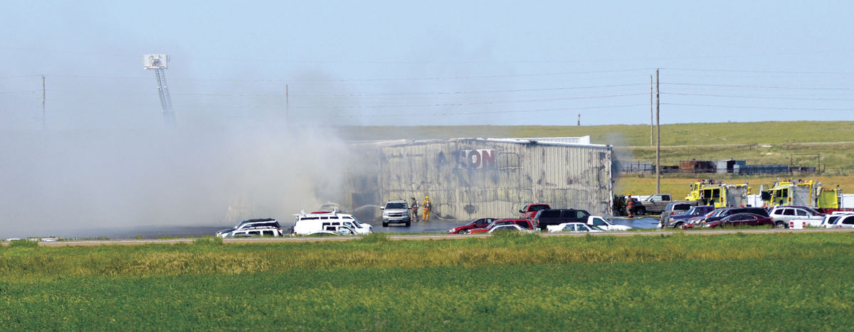 hays auto auction fire - courtesy Nick Schwien Hays Daily News_297811