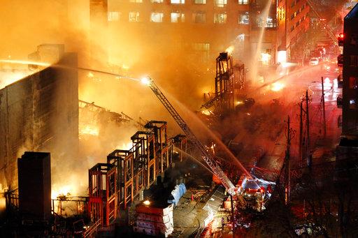 APTOPIX Raleigh Fire_360512