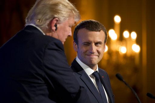 Donald Trump, Emmanuel Macron_416006