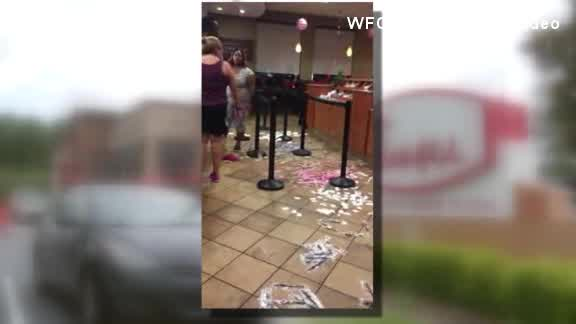 Chick Fil A store trashed_425981