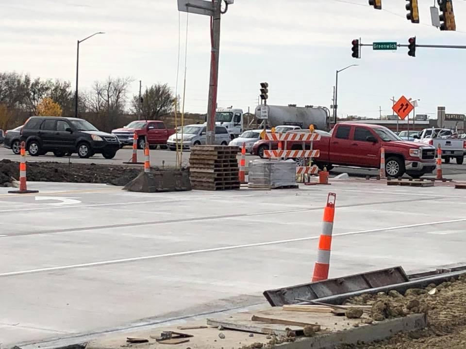 Kellogg frontage road construction_478957