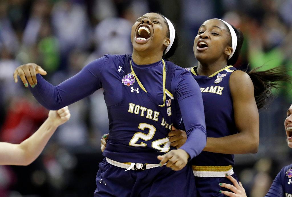 APTOPIX NCAA Championship Notre Dame Mississippi St Basketball_1522673763603