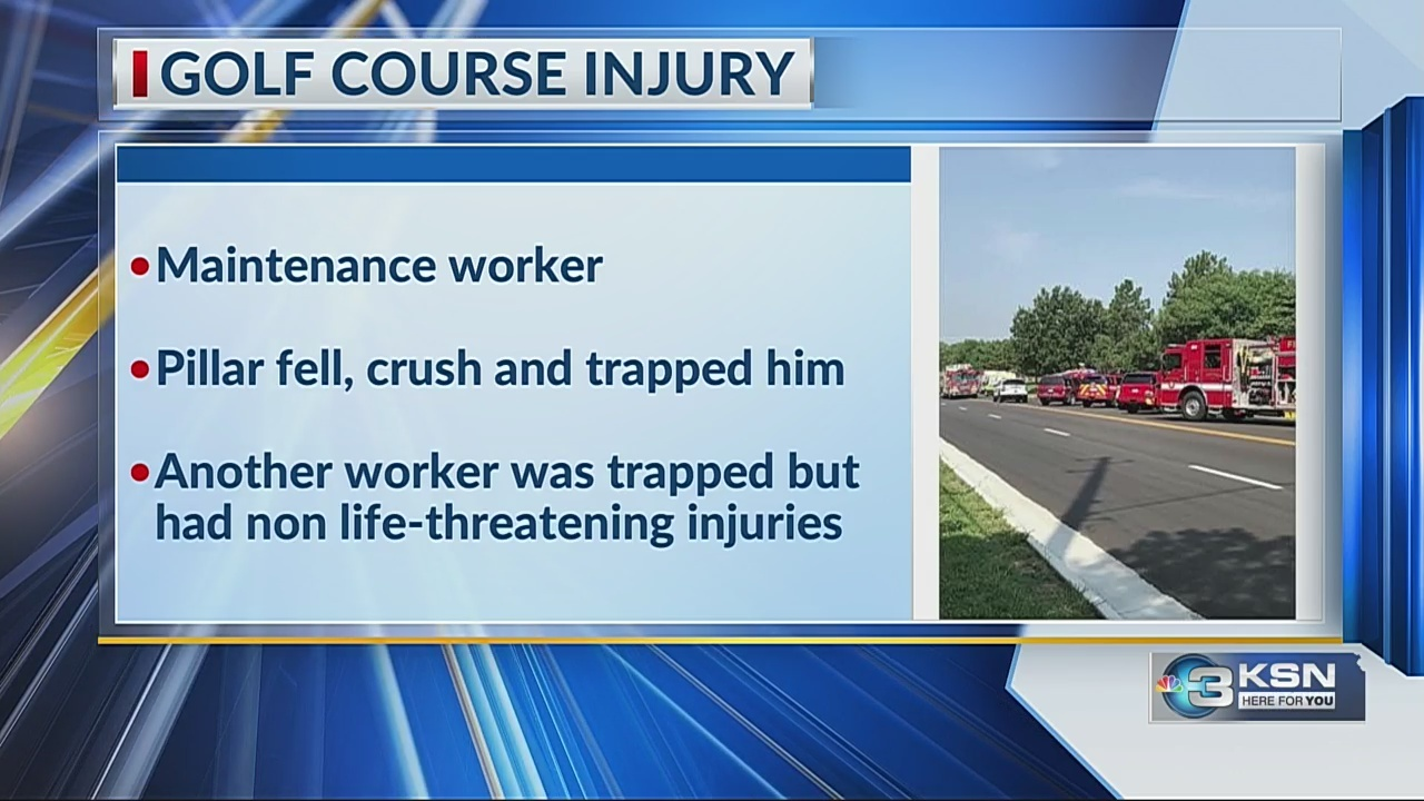 Golf course maintenance worker who was crushed, trapped in