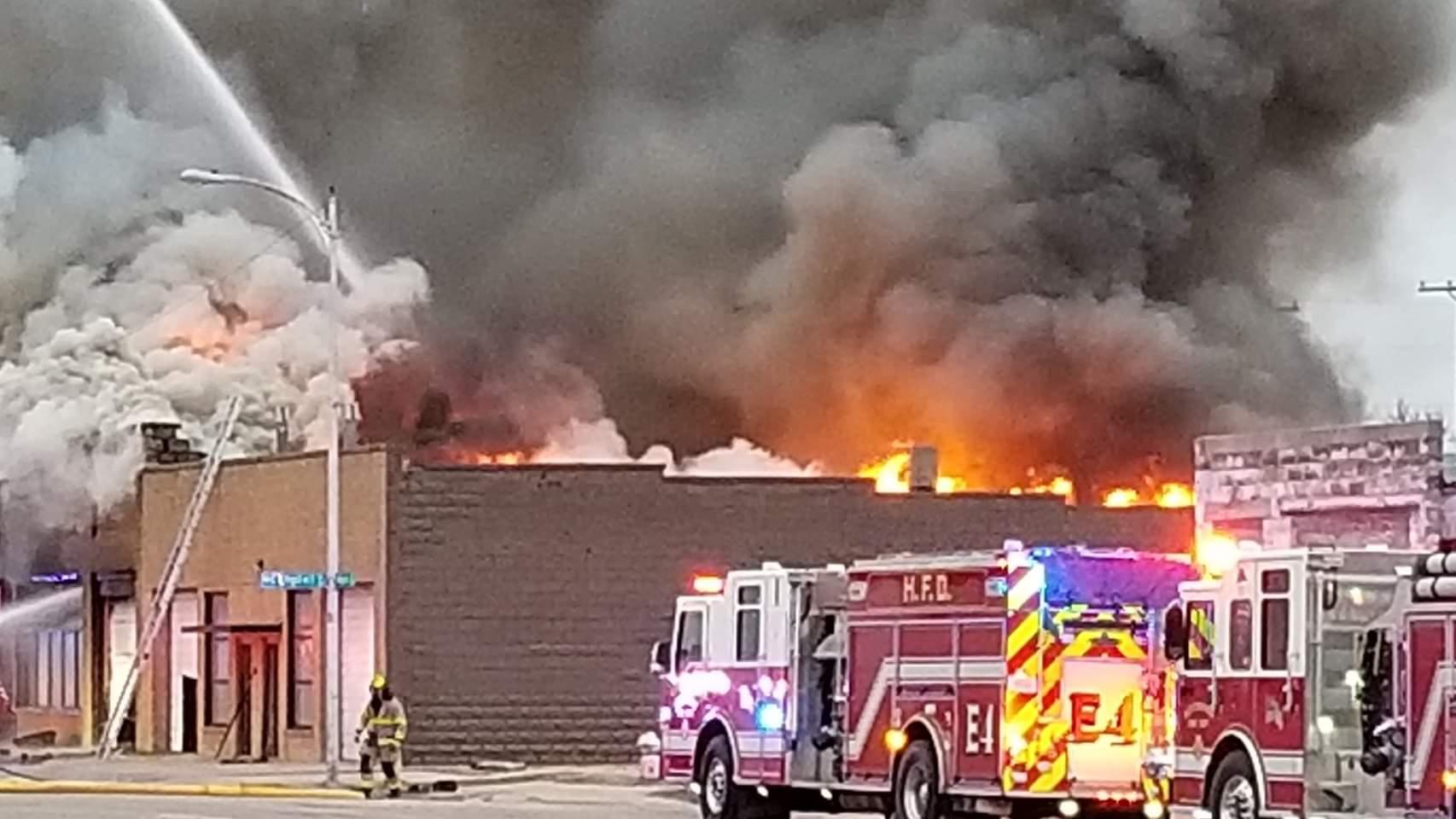 Hutchinson business fire, Courtesy Tim Scott