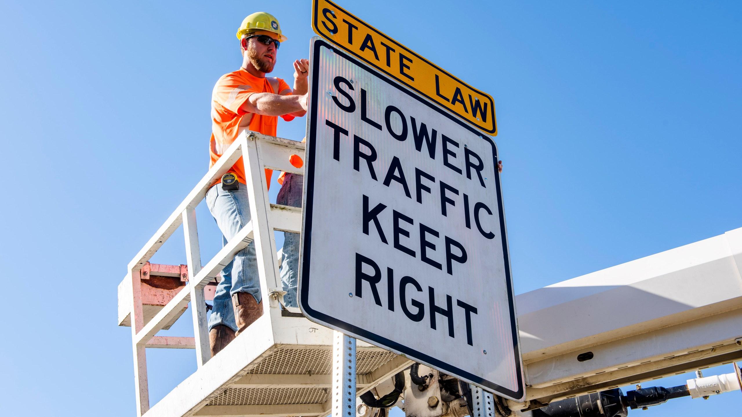 Slower Traffic Keep Right Arkansas Highway Signs_1548868800824.JPG-118809306.jpg