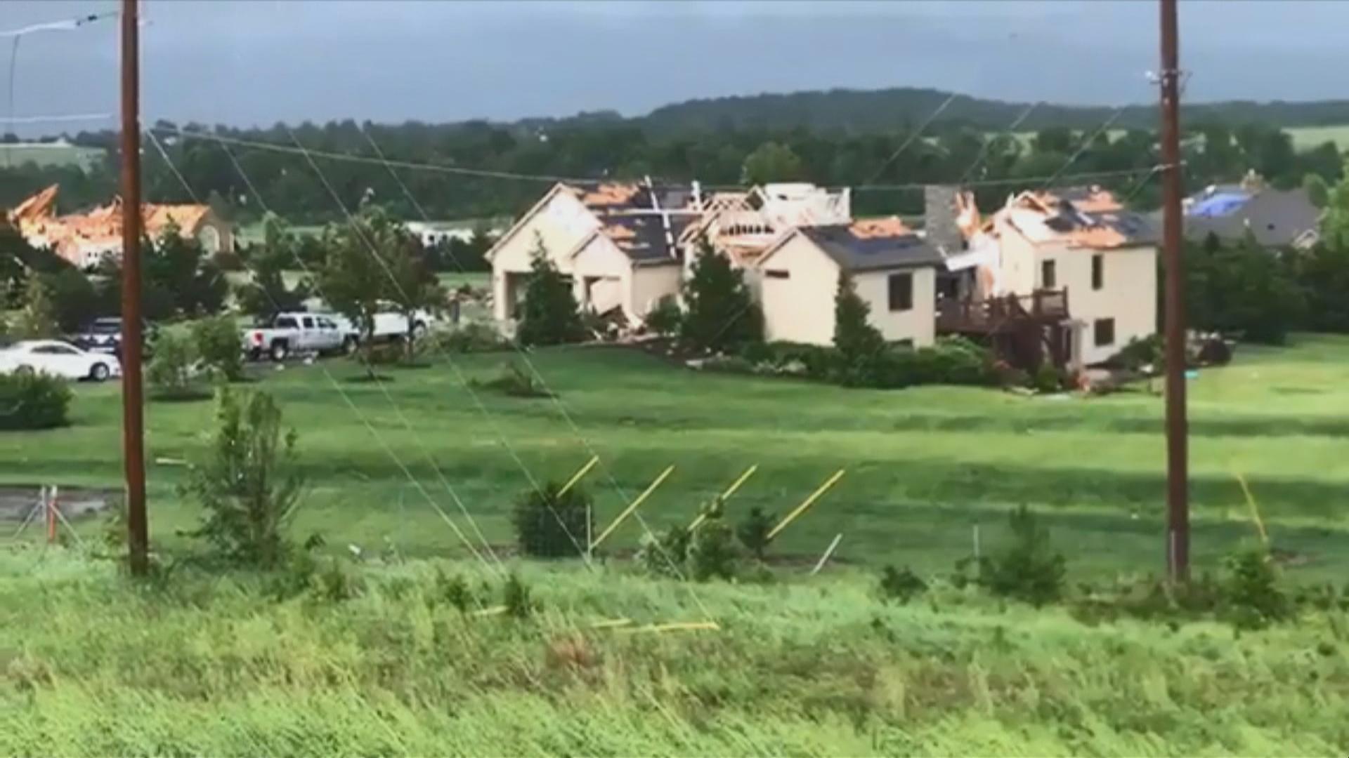 Lawrence Tornado damage