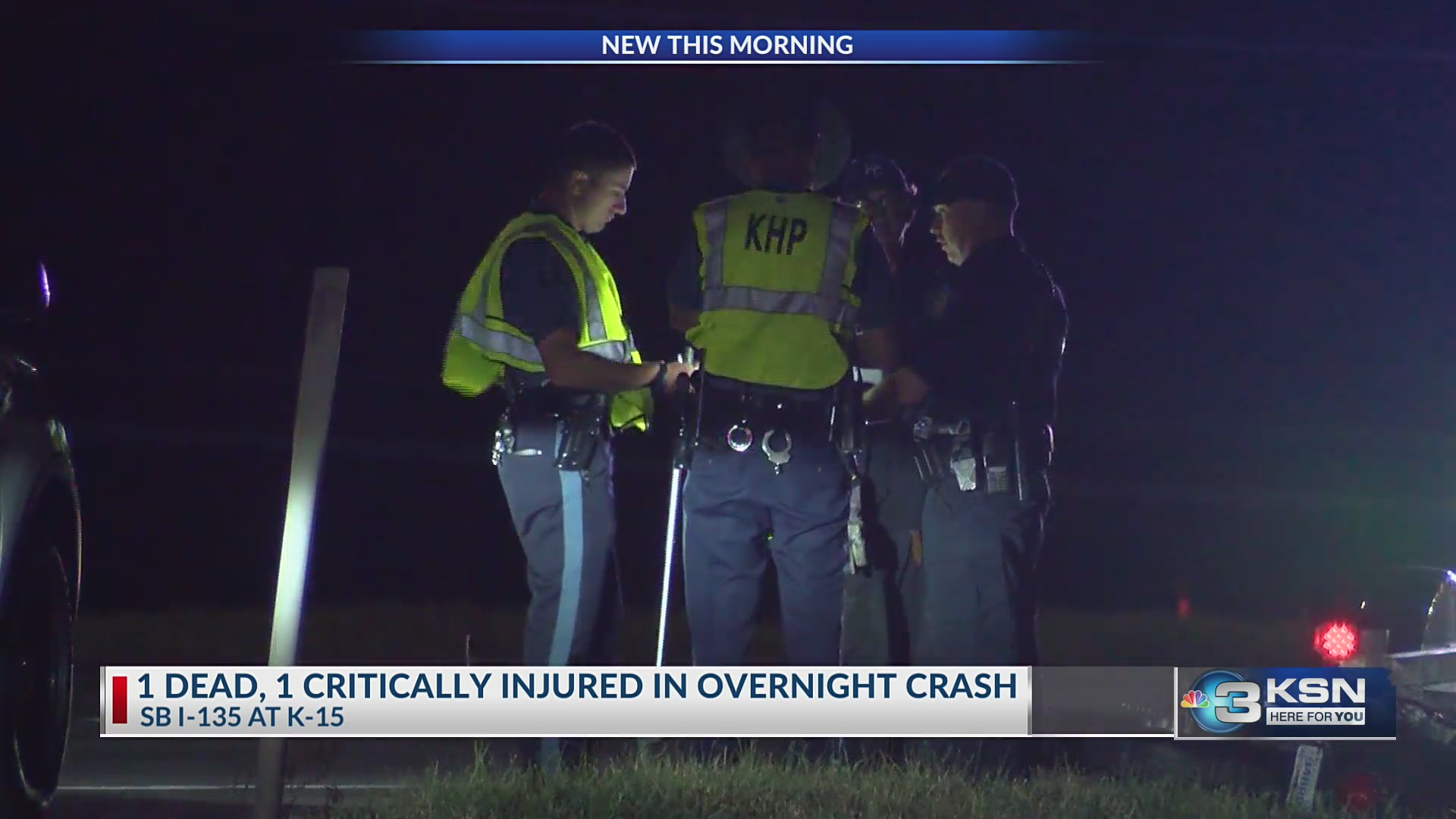 Wichita man dies in crash at K-15 and I-135