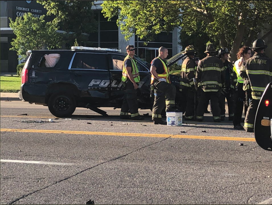 Officer 'OK' after rollover accident