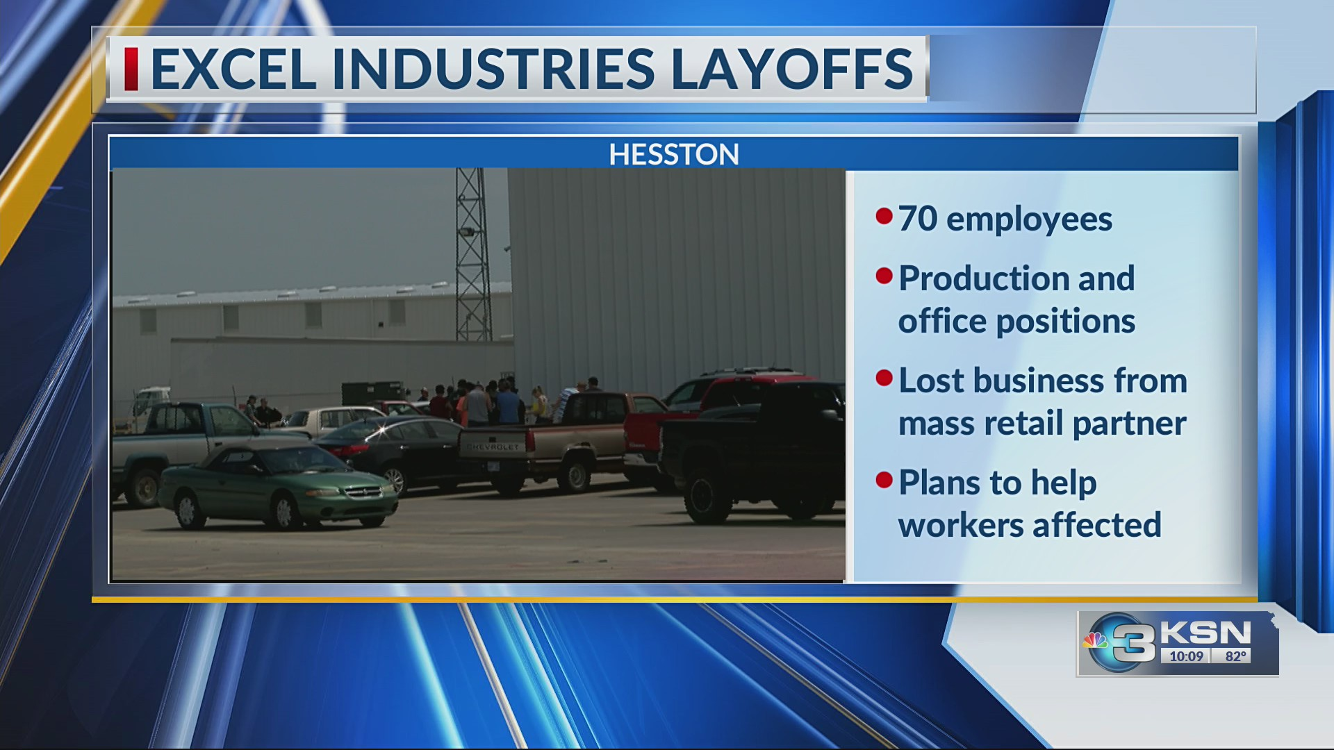 Excel Industries in Hesston lays off nearly 70 employees