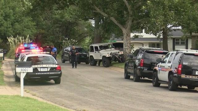 Heavy police presence in north Wichita near 21st and Amidon