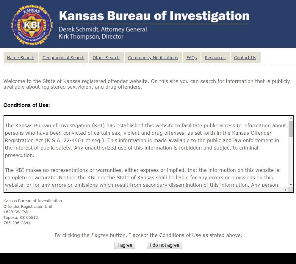 Kansas registered sexual
