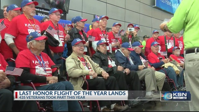 The final Honor Flight of the year lands at Eisenhower National Airport