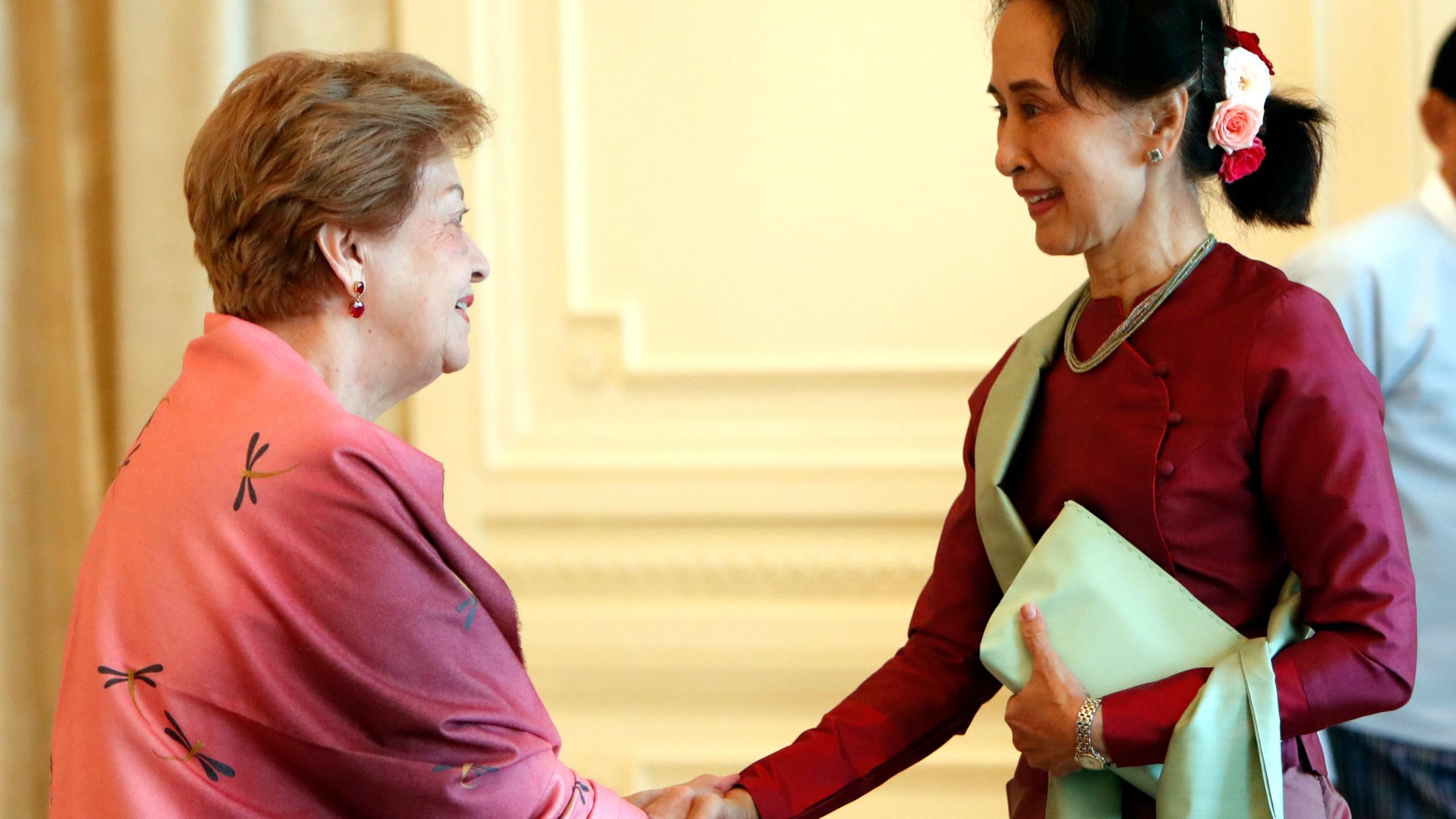 Aung San Suu Kyi, Rosario Manalo