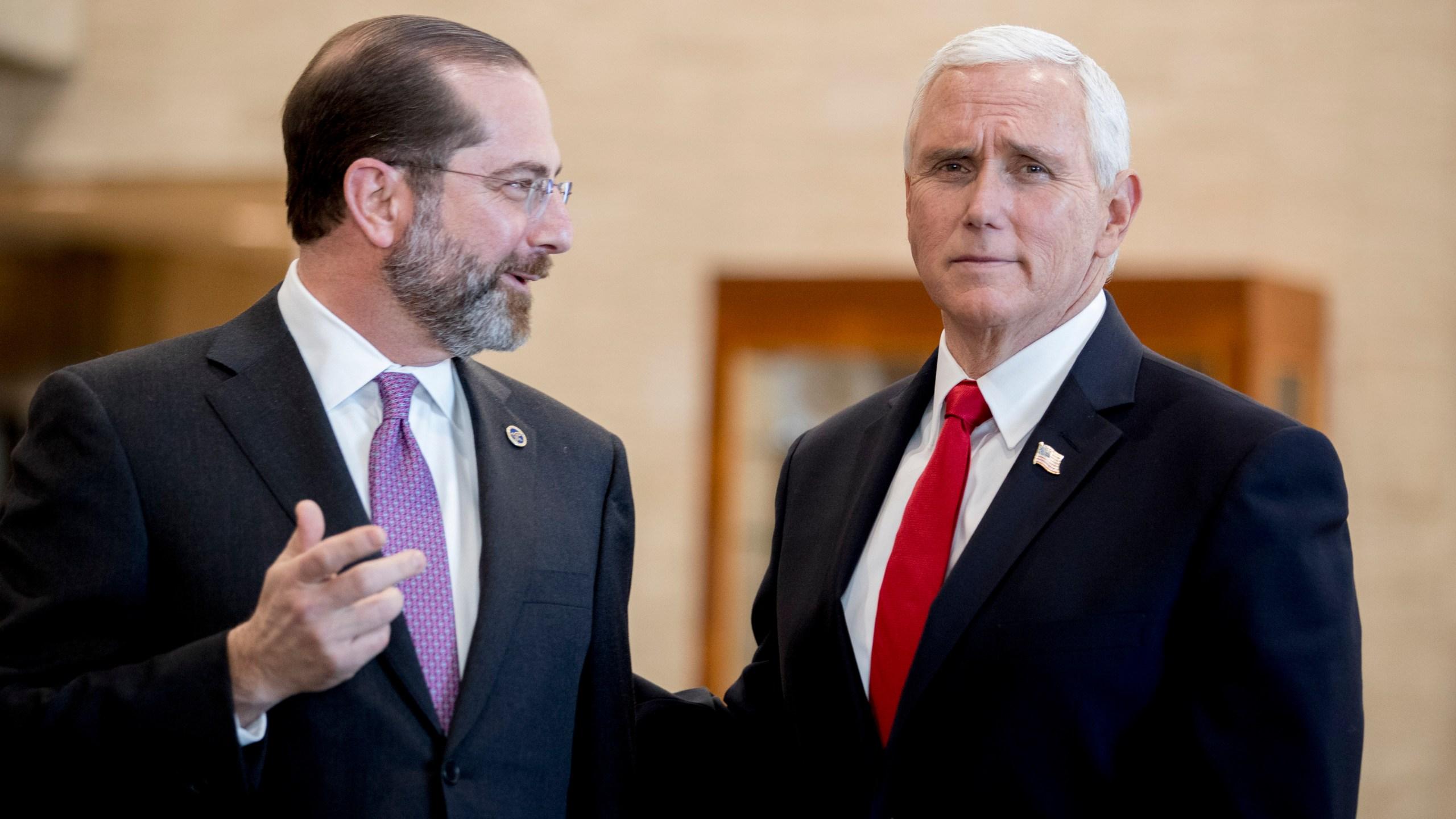 Mike Pence, Alex Azar