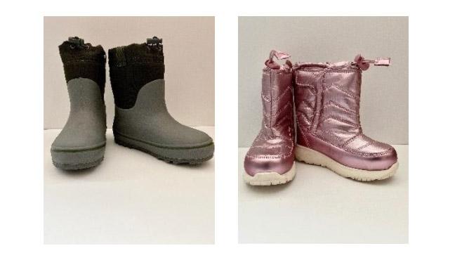 toddler boots due to choking hazard