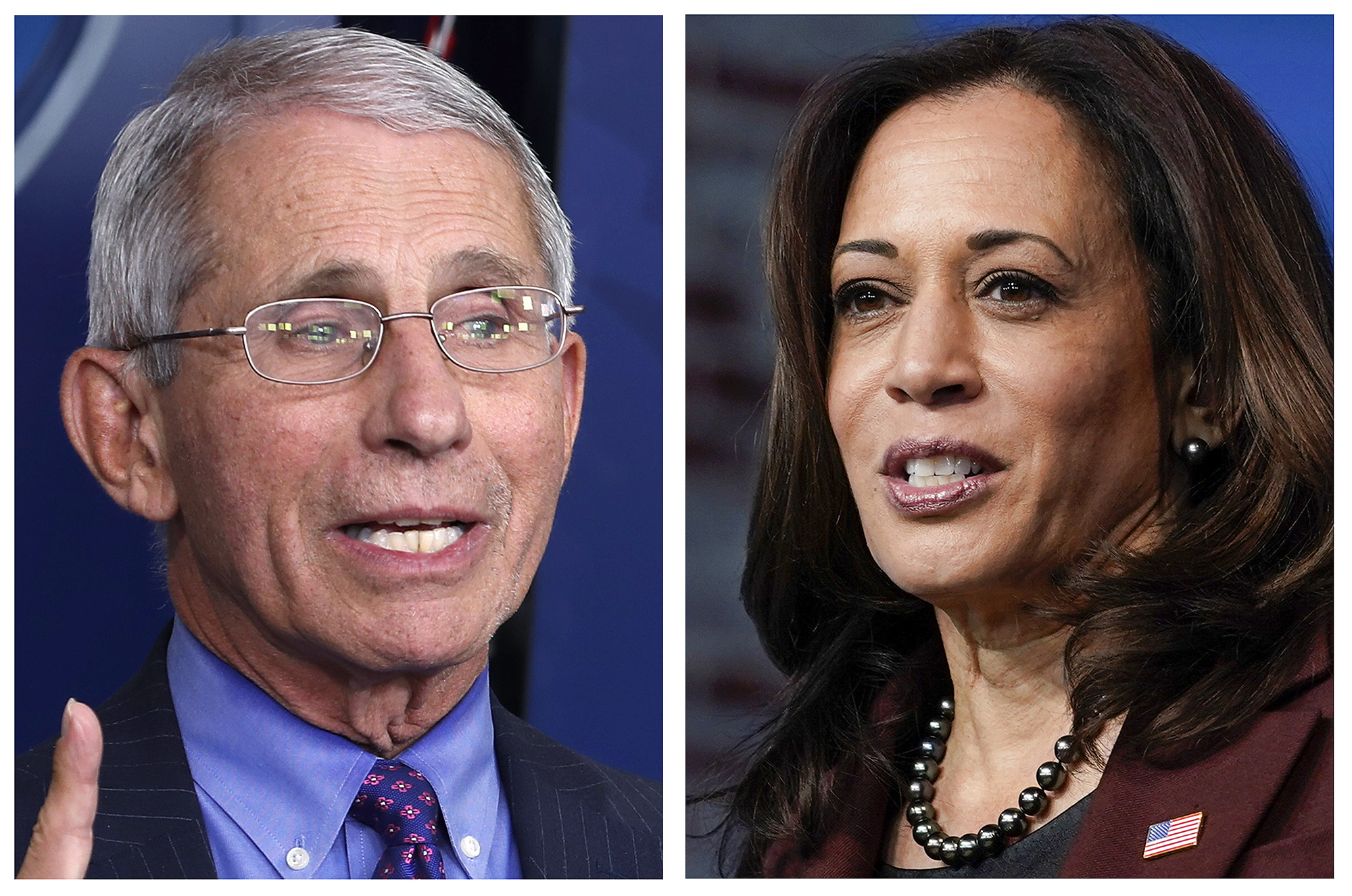 Anotny Fauci, Kamala Harris